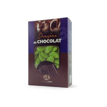Dragees schokolade glänzend grün anis 500gr