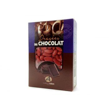 Dragees schokolade glänzend rot 1kg