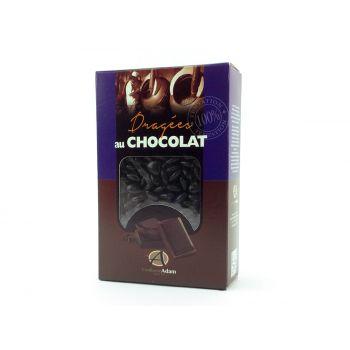 Dragees mini Herz Schokolade glänzend Schwarz 500gr