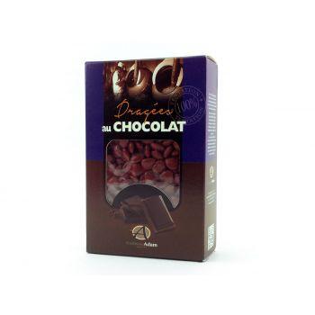 Dragees mini Herz Schokolade glänzend Bordeaux 500gr