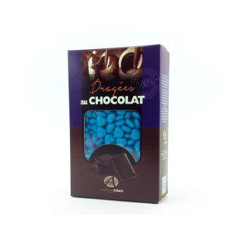Dragees mini Herz Schokolade glänzend Türkis 500gr