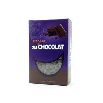 Dragees Mini-Herz Schokolade glänzend Grau 500gr