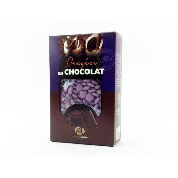 Dragees mini Herz Schokolade glänzend Lilas 500gr