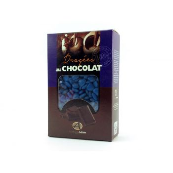 Dragees Mini Herz Schokolade glänzend Blau Ozean 500gr