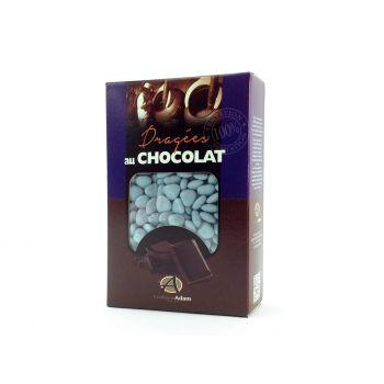 Dragees mini Herz Schokolade glänzend Lavendel 500gr