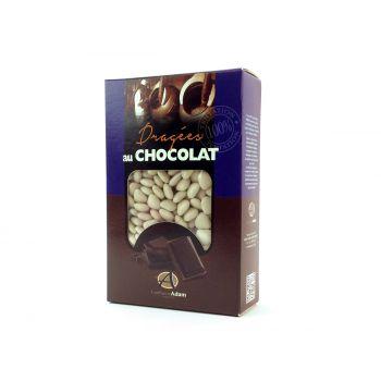 Dragees mini Herz Schokolade glänzend Ecru 500gr