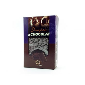 Dragees Mini Herz Schokolade glänzend Grau Mond 500gr