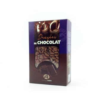 Dragees mini Herz Schokolade glänzend Taupe 500gr