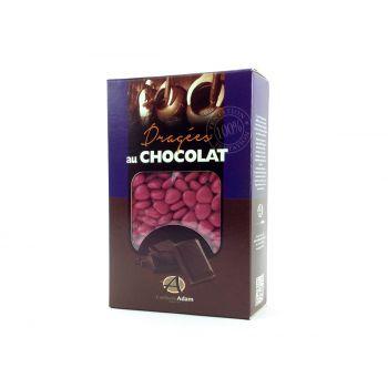 Dragees mini Herz Schokolade glänzend Himbeere 500gr
