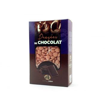 Dragees mini Herz Schokolade glänzend Koralle 500gr