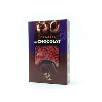 Dragees mini Herz Schokolade glänzend Rot 500gr
