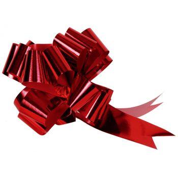 5 Automatische Knoten metallisiert rot 31mm