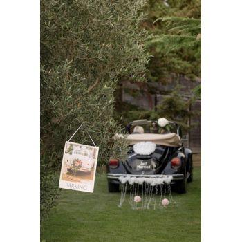 Schild wedding Parkplatz