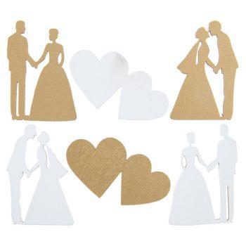 18 Holzdekors just married metallisiert