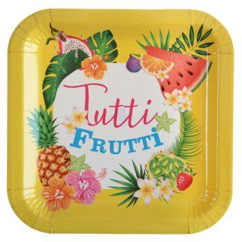 10 Teller Tutti frutti