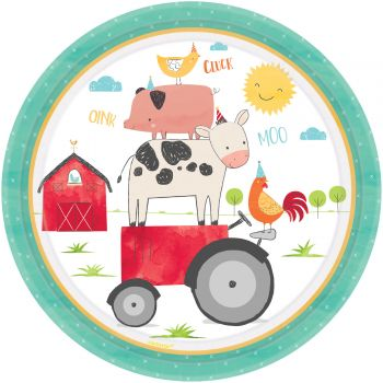 8 Teller Die Kinder Bauernhof