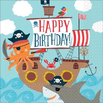 16 servietten Pirate ahoy
