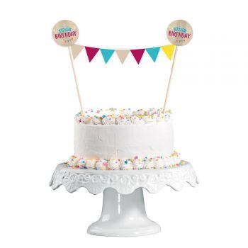 Wimpel My Birthday Party für Kuchen