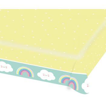 Tischtuch aus Papier Wolke Regenbogen