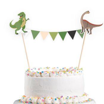 Wimpel Dinosaurier für Kuchen