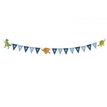 Banner Happy Birthday Dinosaurier Party