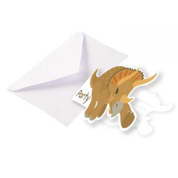 8 Einladungen Dinosaurier Party
