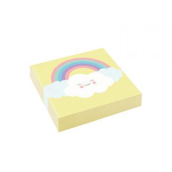 20 Handtücher Dessert Wolke Regenbogen