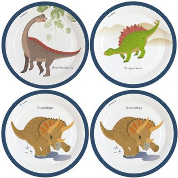 8 Dinosaurier-Party Teller