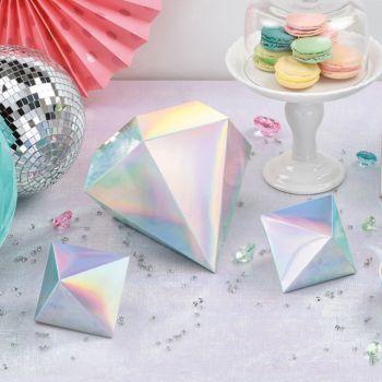 3 3D Shimmer Party Dekorationen