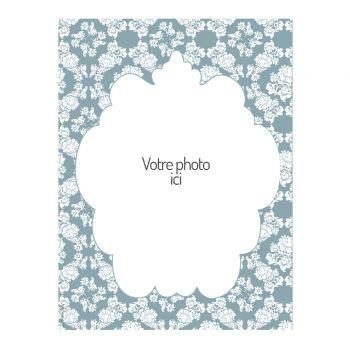 Dekor auf Zucker Hochzeit Retro Blau A4 zu personalisieren