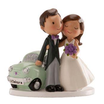 Verheiratete Figur Auto just married