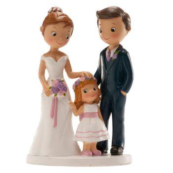 Verheiratete Figuren mit kleinen Mädchen