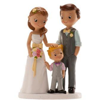 Verheiratete Figuren mit kleinem Jungen