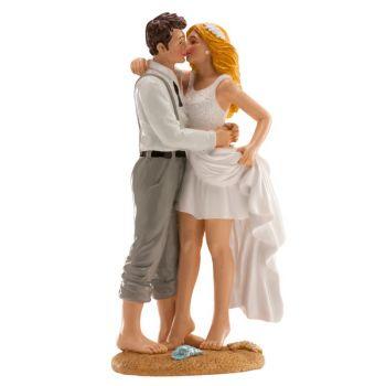 Am Strand verheiratete Figuren