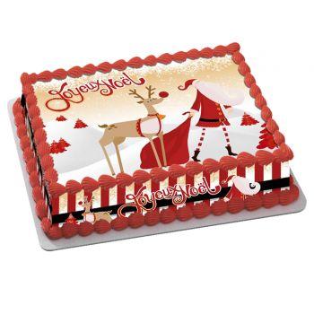 Easycake Kit Frohe Weihnachten Gold A4