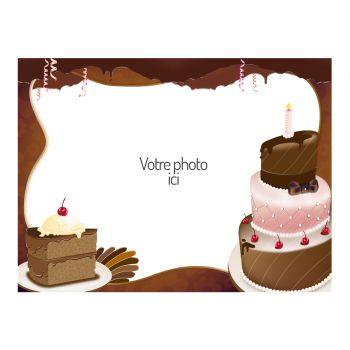Tortenaufleger personalisierte dekor My Choco A4