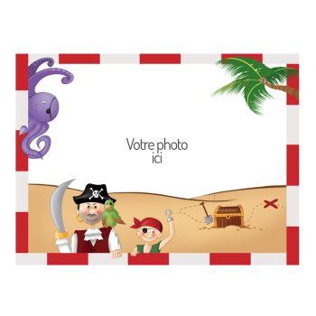 Dekor auf Sucre A4 Dekor Piraten zu personalisieren