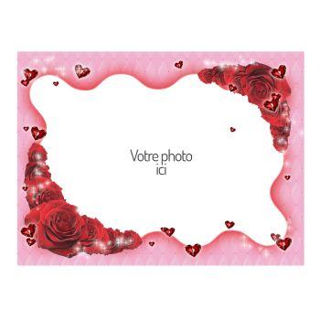 Tortenaufleger personalisierte dekor Valentine A4