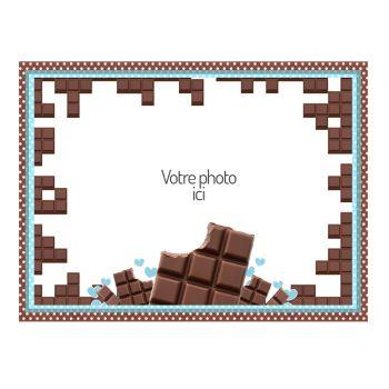 Tortenaufleger personalisierte dekor Schokolade A4
