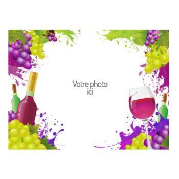 Dekor auf Zucker A4 Dekor Wein zu personalisieren