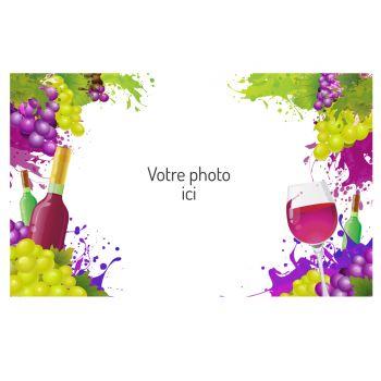 Dekor auf A3 Wein Zucker zu personalisieren