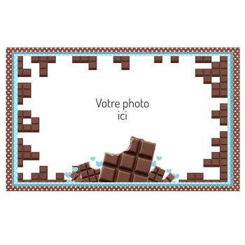 Dekor auf Zucker Schokolade A3 zu personalisieren