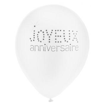 8 Ballons Happy Birthday