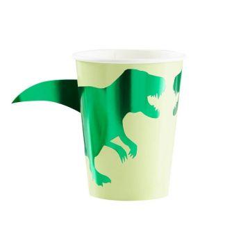 8 Becher Dinosaurier Roar
