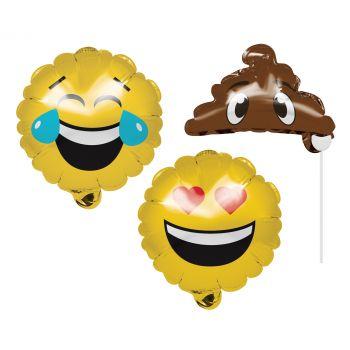 3 Aufblasbare fotobooth Zubehör emoji