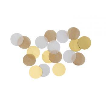 Konfetti Papier gold brush