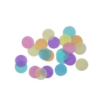 Konfetti pastellfarbener Papier