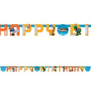 Banner Happy Birthday Rusty Rivets