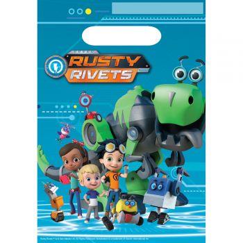 8 Party-Beutel Rusty Rivets