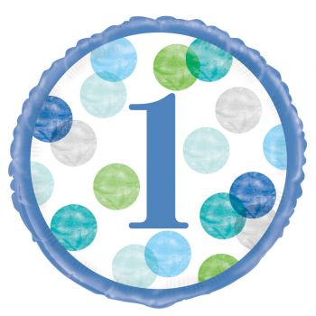 Helium-Ballon 1 An blue dots